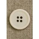 4-huls knap off-white, 20 mm.