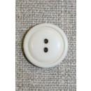 Kit/off-white 2-huls knap,18 mm.