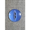 Blank 2-huls knap m/oval midte, lavendel-blå