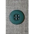 Flaskegrøn 4-huls knap, 15 mm.