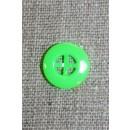 Neon knap grøn, 14 mm.