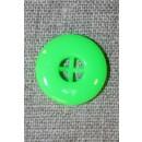 Neon knap grøn, 17 mm.
