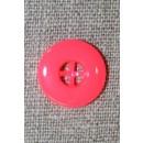 Neon knap pink/koral, 17 mm.