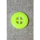 Neon knap gul, 14 mm.
