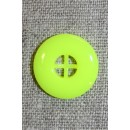 Neon knap gul, 20 mm.