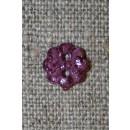 Lille lilla blomster-knap, 9 mm.