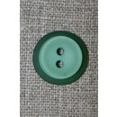 Lysegrøn knap m/grøn kant, 18 mm.