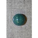 Rund knap m/rille, flaskegrøn 12 mm.
