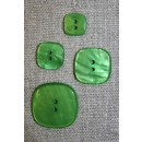 Firkantet knap i 4 str, grøn
