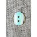 2-huls knap klar/mint, 11 mm.