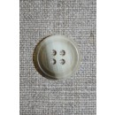 4-huls knap klar/off-white/brun, 18 mm.