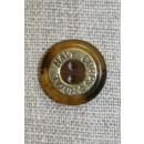 """2-huls knap brun/gl.guld """"Royal Navy Corps"""", 18 mm."""