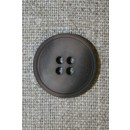 4-huls knap grå-brun meleret, 20 mm.