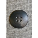 Brun/lysebrun meleret 4-huls knap, 23 mm.