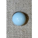 Rund knap, lyseblå 10 mm.