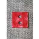 Firkantet blank knap, rød 15 mm.