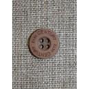 Knap pudder-brun 21st century, 13 mm.