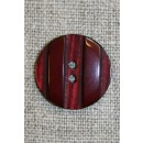 Bordeaux knap m/riller, 22 mm.