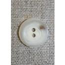 2-huls knap off-white/sand, 15 mm.