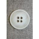 4-huls knap off-white meleret, 20 mm.