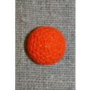 Rund knap m/mønster, 15 mm. orange