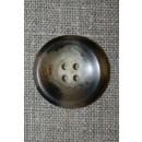 Brun/beige meleret 4-huls knap, 25 mm.