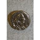 Guldknap i mønt-look, 18 mm.