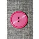 Pink 2-huls knap, 23 mm.