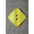 Firkantet gul knap, 23 mm.