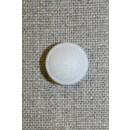 Rund hvid knap m/glimmer