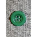 4-huls knap grøn, 15 mm.