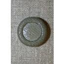 Grå-grøn knap, 22 mm.