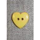 Hjerte knap gul