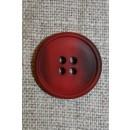 4-huls knap meleret rød/mørkerød, 20 mm.