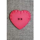 Melon hjerte-knap, 24 mm.