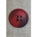 4-huls knap mørk rød/bordeaux 22 mm.