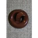 """Brun knap """"kringle"""", 22 mm."""