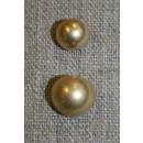 Rund metal-knap guld, 13 mm.