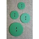 Grøn 2-huls knap 15 mm.