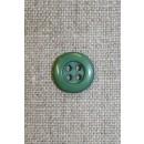 4-huls knap støvet grøn, 13 mm.