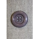 4-huls knap grå m/kant, 20 mm.