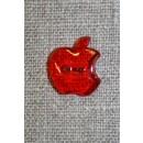 Knap m/æble, rød