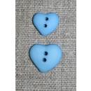 Asymetrisk hjerteknap, lyseblå i12 mm