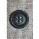 4-huls knap koksgrå-meleret, 17 mm.