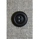 2-huls knap mørkebrun 12 mm.