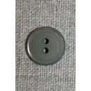 2-huls knap grå-grøn, 15 mm.
