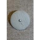 Grå/kit knap m/sølv-midte, 20 mm.