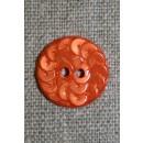 Knap i Palliet-look, orange 18 mm.
