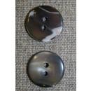 Perlemors-knap brun, 17 mm.