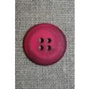 4-huls knap meleret pink/hindbær, 20 mm.